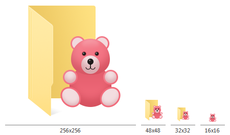 everyday10 folder icons 60 professional windows 10 style icons for rh foldermarker com Teddy Bear Coloring Pages Teddy Bear Outline
