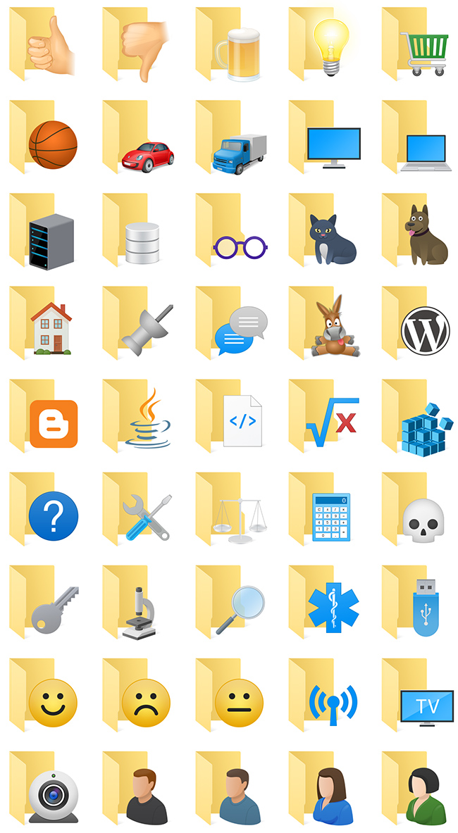 Extra Folder Icons - 45 cute folder icons help you navigate easily