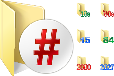 Numbers Folder Icons