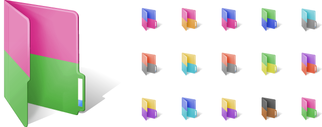 two-color Folder Icons