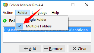 State of the Folder manu is saved