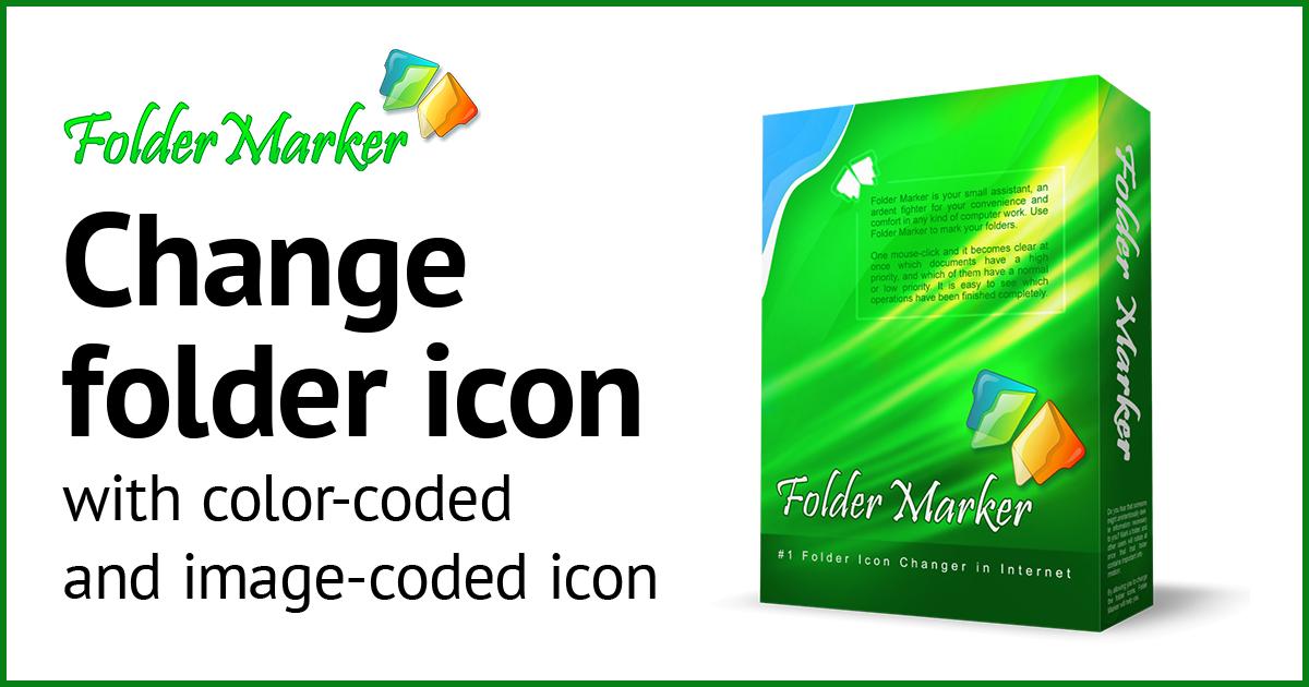 Download Folder Marker and change folder icon or folder