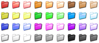 36 color coded folder icons to mark out file folders to make them easy to find.