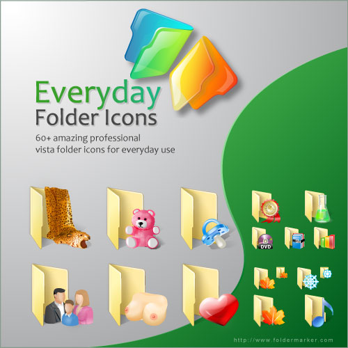 Everyday Folder Icons for Vista