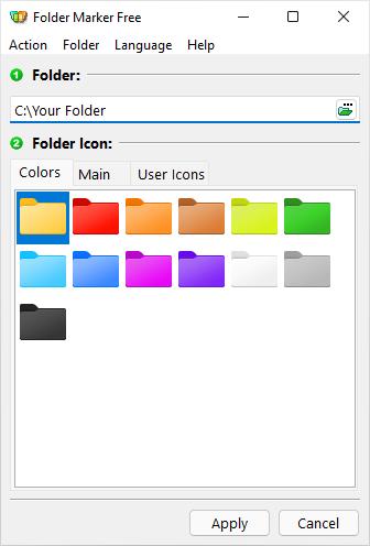 Главное окно Folder Marker