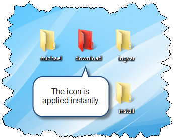 how to make change a folder icon